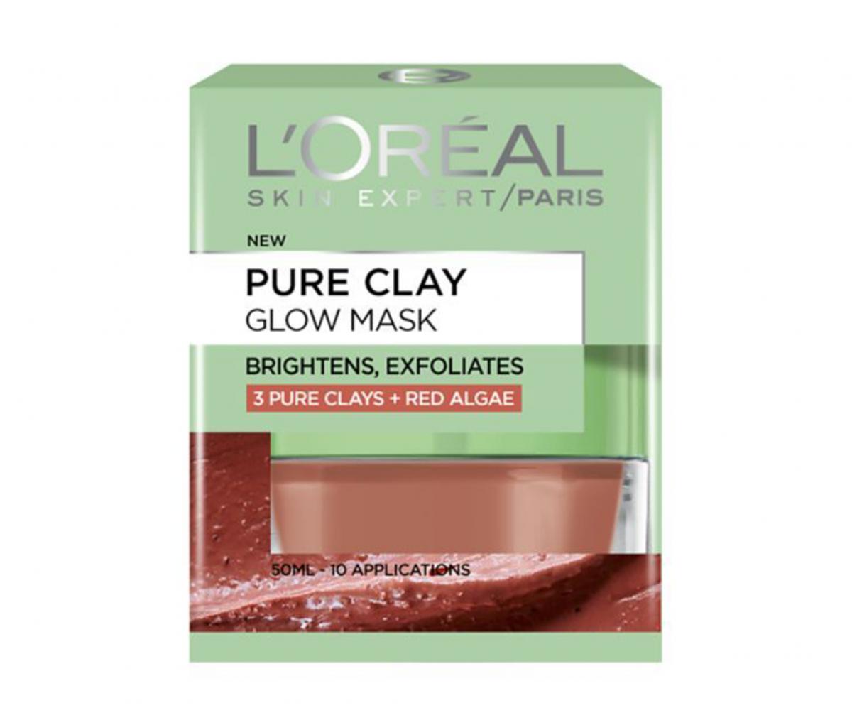 L'Oreal  Pure Clay Glow Mask (English)