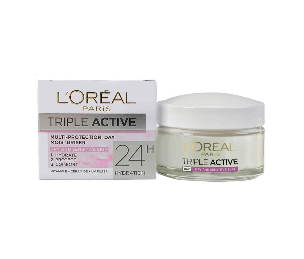 L'Oreal  Triple Active Dry & Sensitive Day Cream
