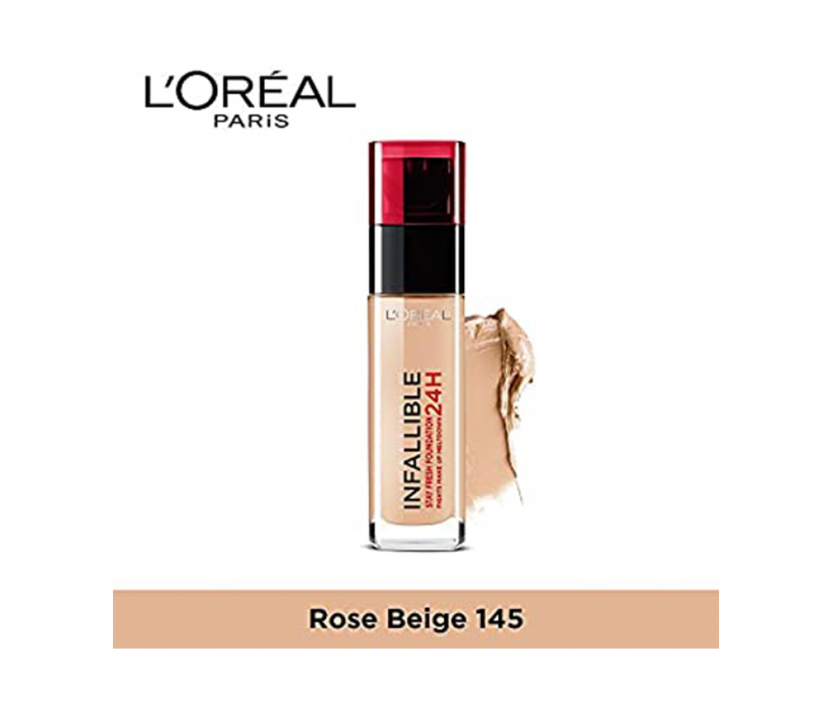 L'Oreal  Indefaectible N145 Rose Beige Foundation