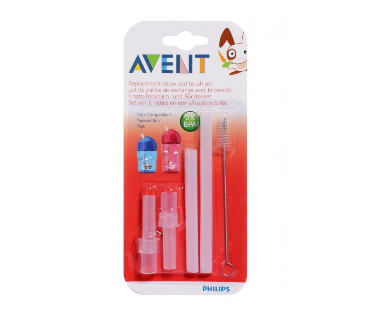 Avent Rep. Straw N Brush Set SCF764/00
