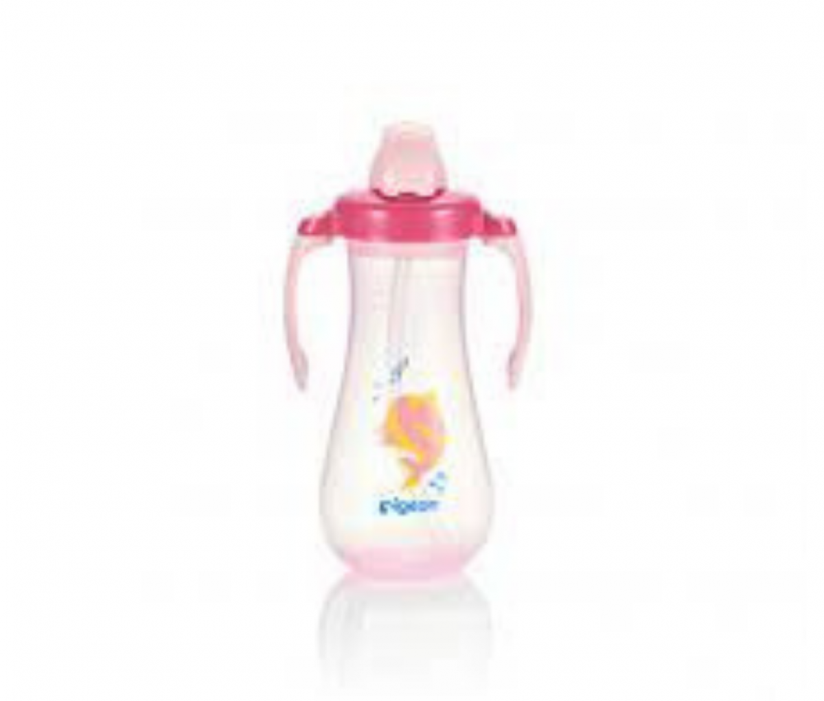 Tall Straw Bottle, Pink 300ml, (EN)