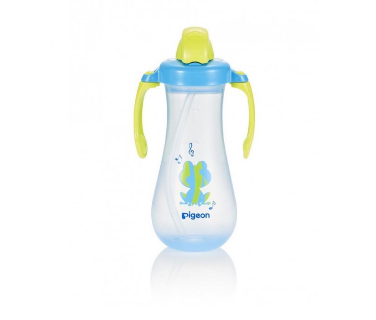 Tall Straw Bottle, Blue 300ml, (EN)