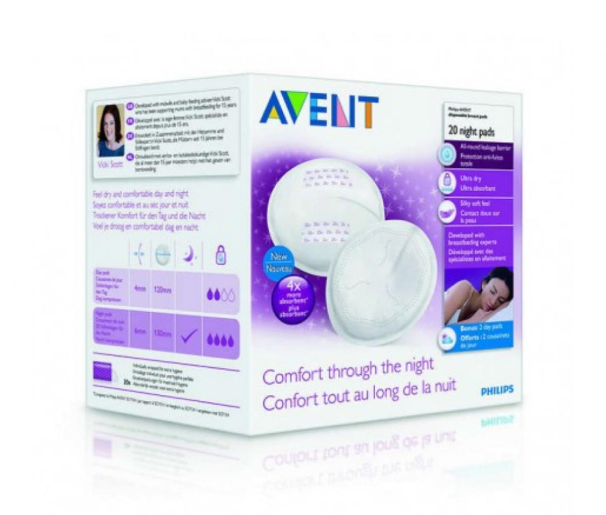 Avent Breastpads NIGHT SCF253/20