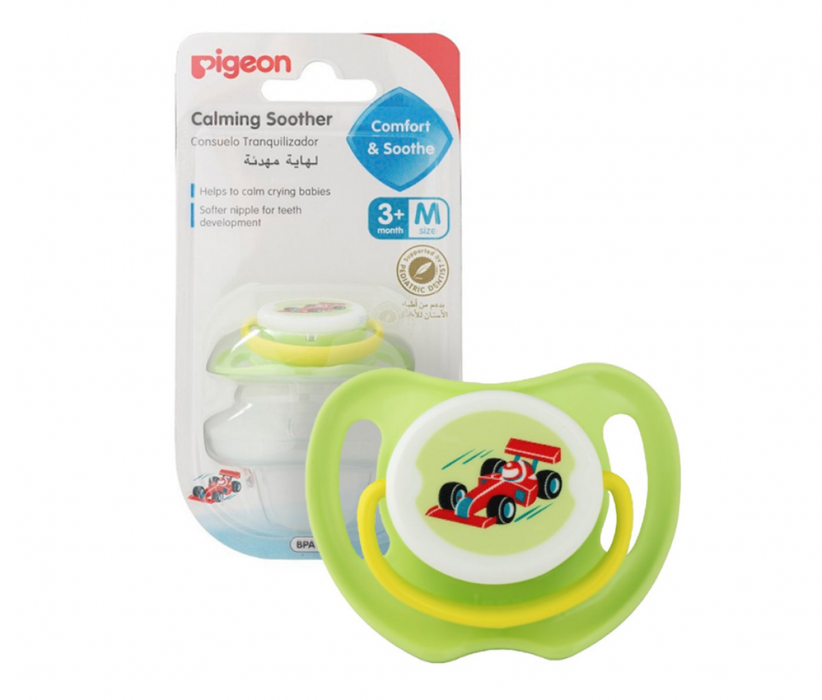 Calming Soother (M) Size Race Car, (ENG/SPN), Blister Pack  [26053E]