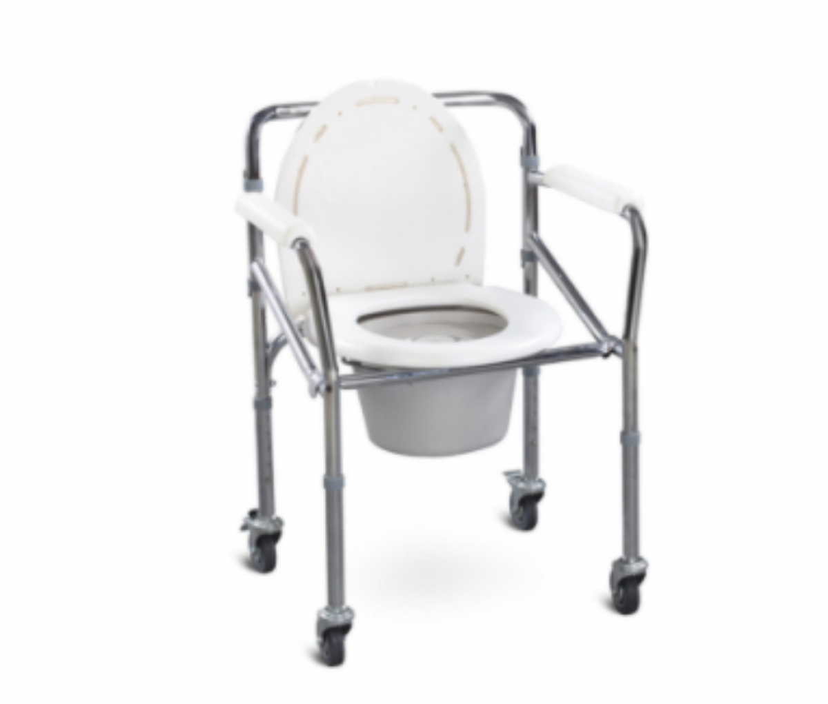 Commode Chair SS With Caster Wheels - SQ1011