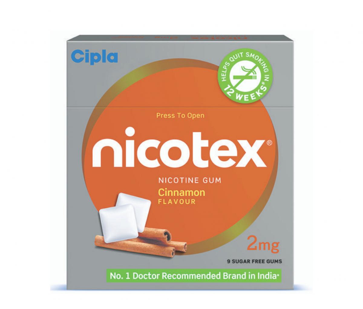 Nicotex 2mg Chewing Gums Cinnamon Sugar Free