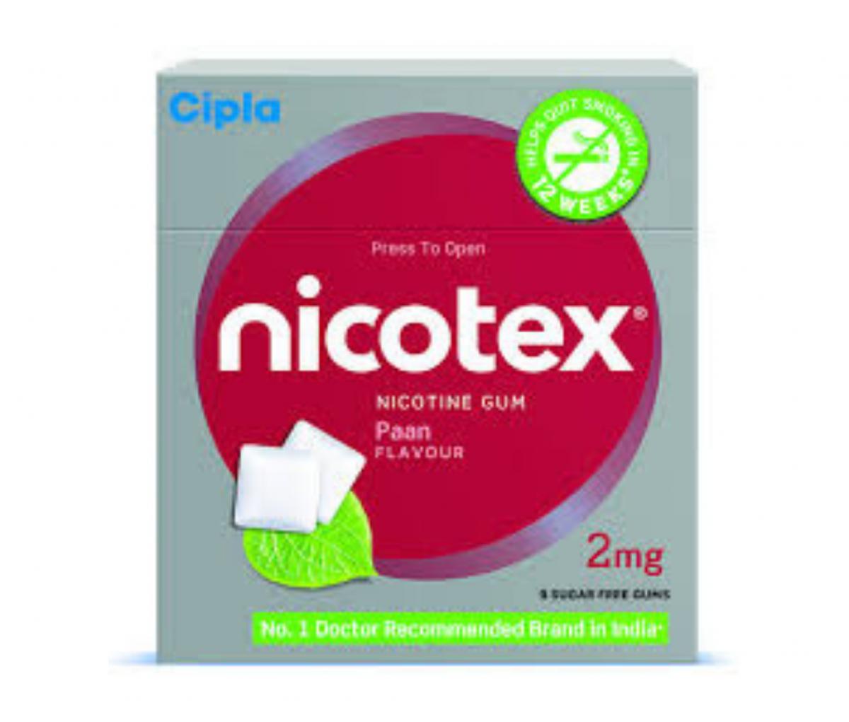 Nicotex 2mg Chewing Gums Paan Sugar Free