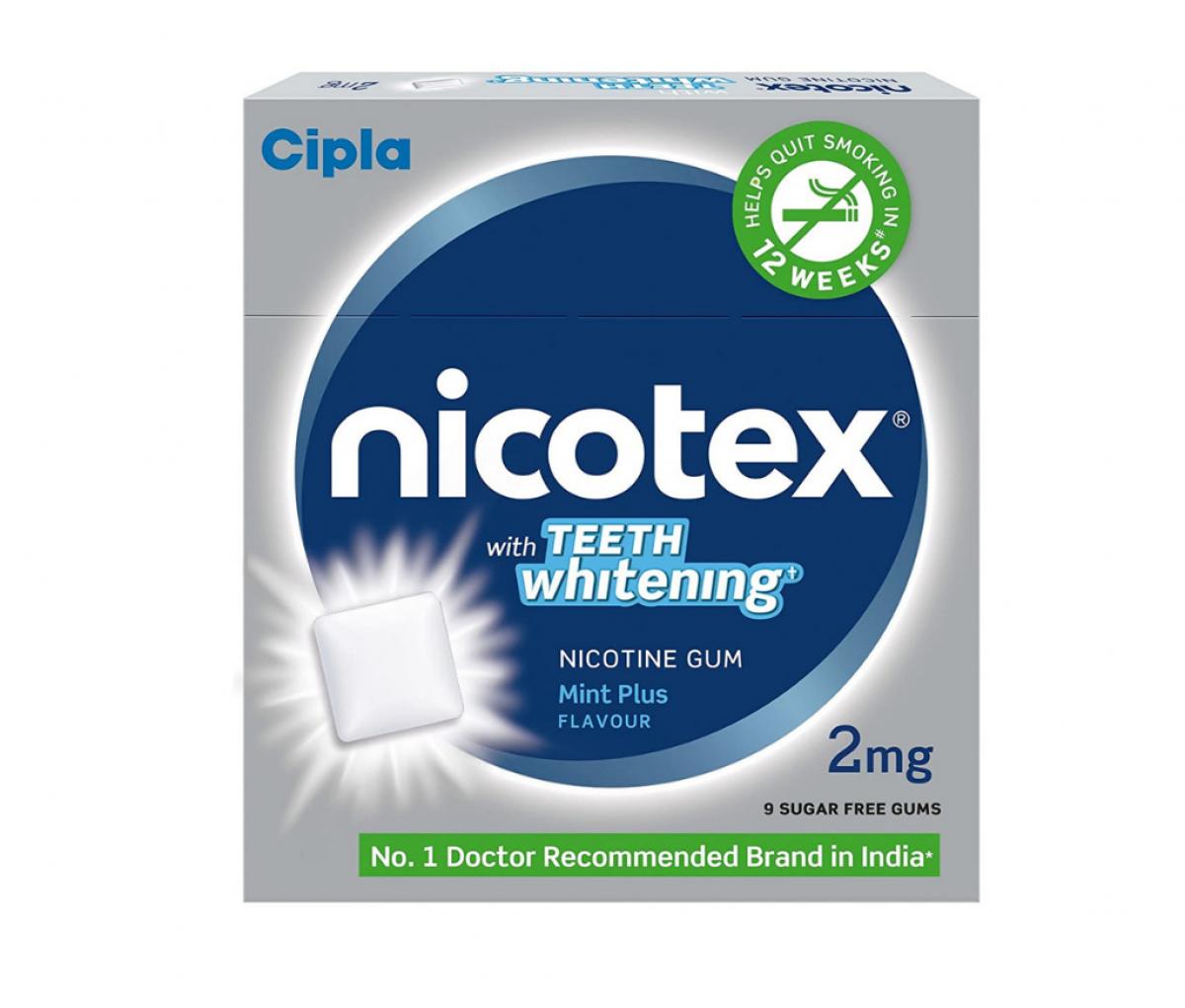 Nicotex Teeth Whitening 2mg Chewing Gums Mint Plus