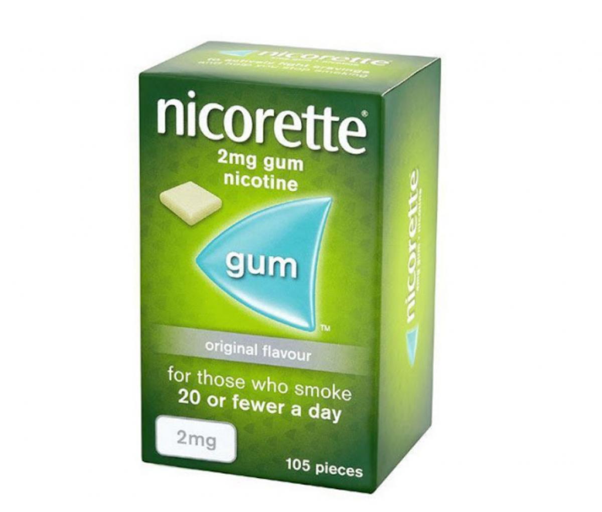 Nicorette 2mg Original Flavor Gum, 105 Pieces
