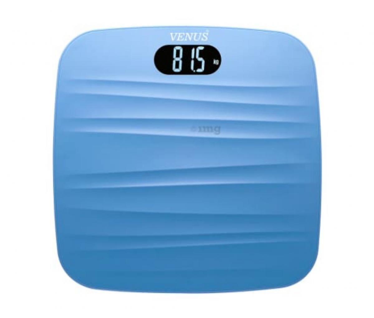 Venus Digital LCD Weighing Scale Blue Prime Lightweight ABS