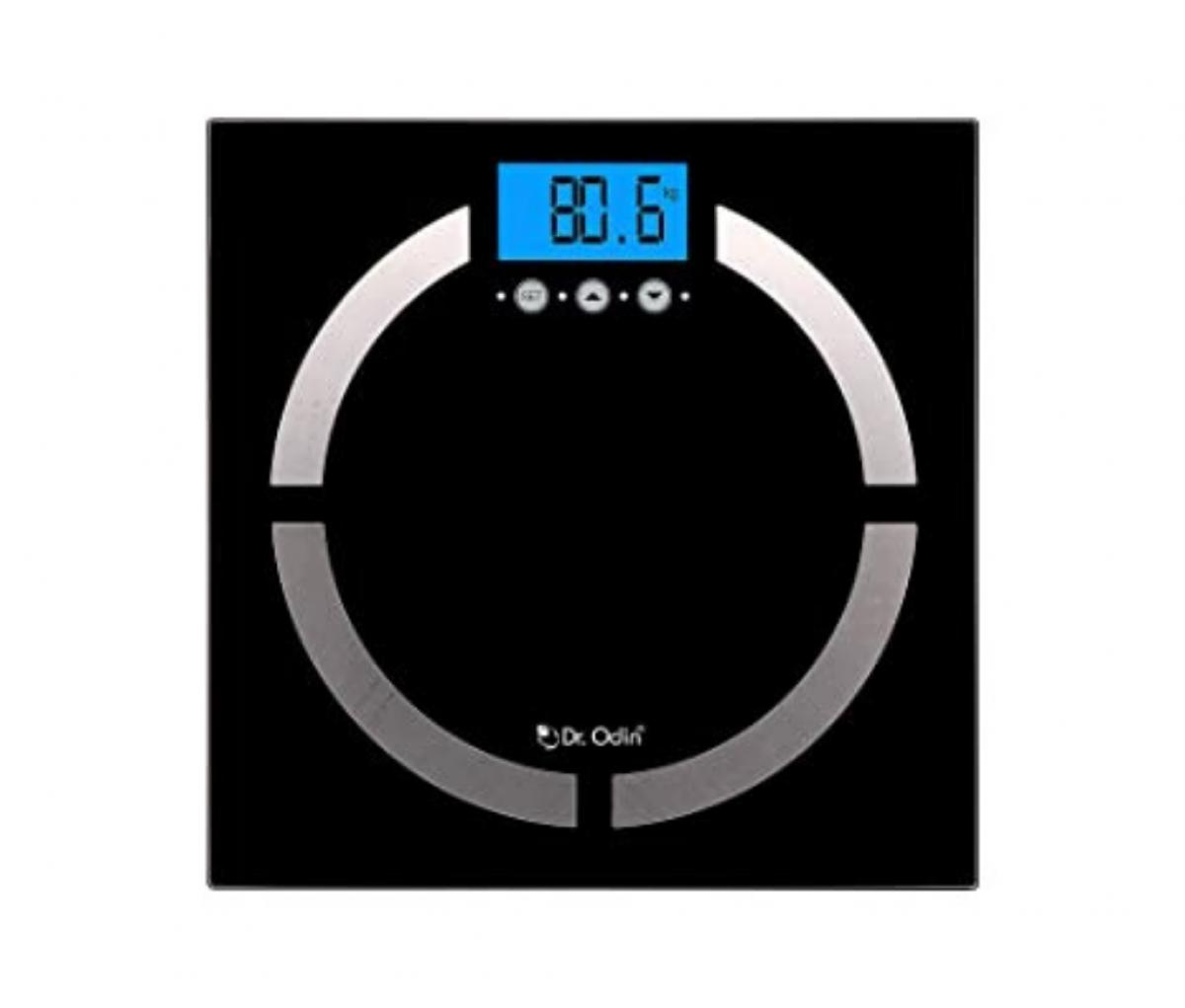 Dr.Odin Body Fat Analyzer With Latest BIA Technology,Sport Mode,Body Mode, High Precision Strain Gauge Sensor & Auto Off Function (CF-570BT) White