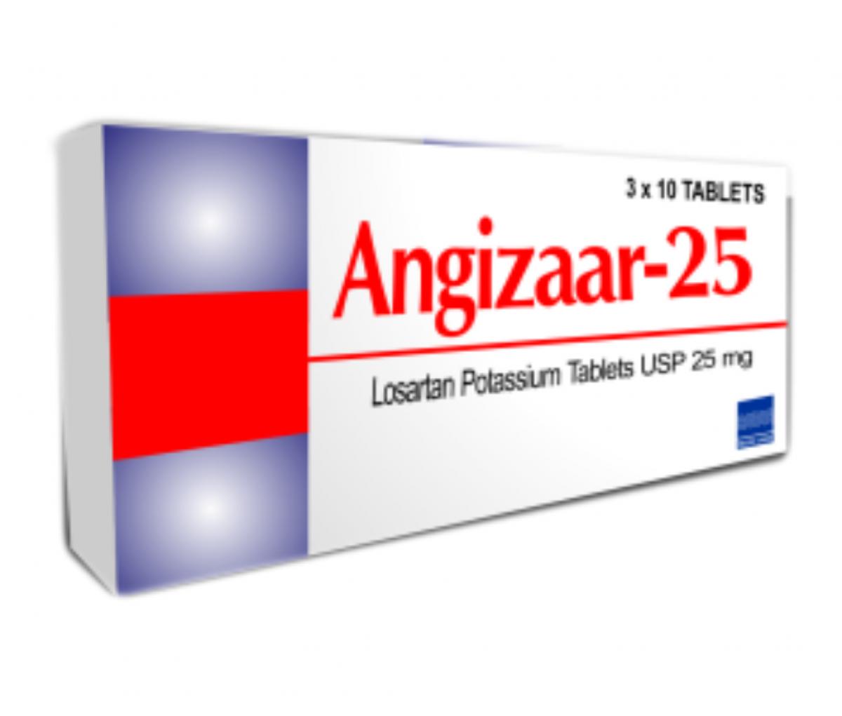 Angizaar 25mg USP Tablet