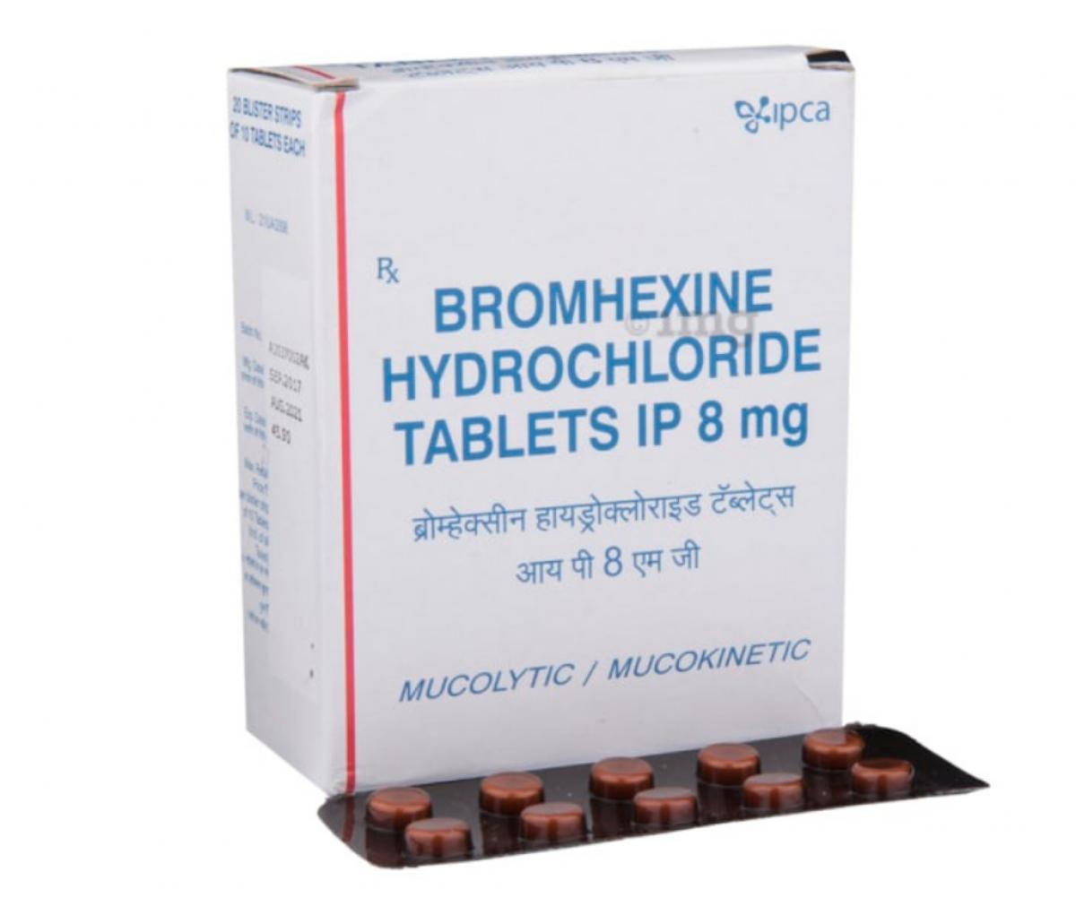 Bromhexine Hydrochloride 8mg Tablet