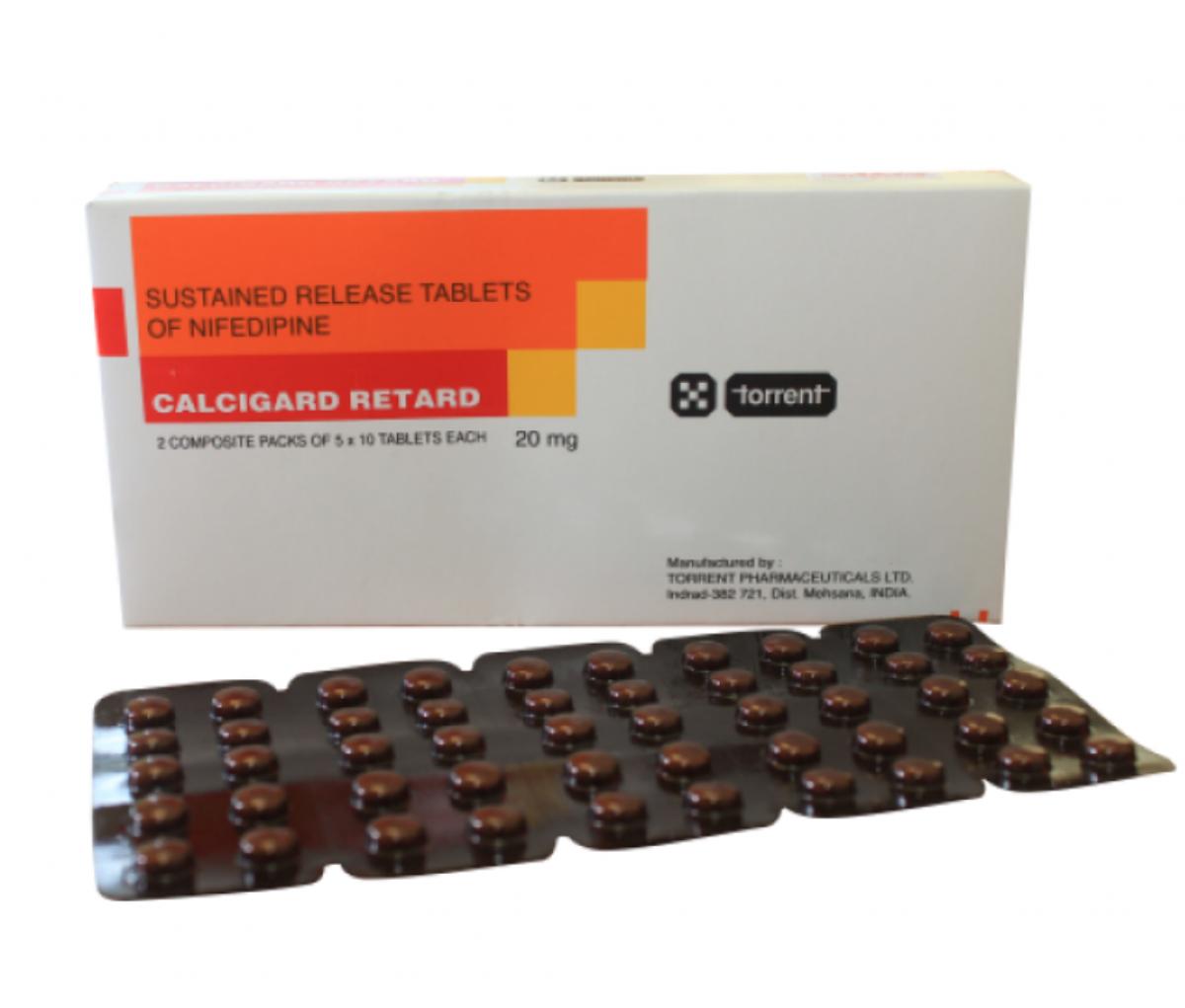 Calcigard Retard 20mg BP Tablet