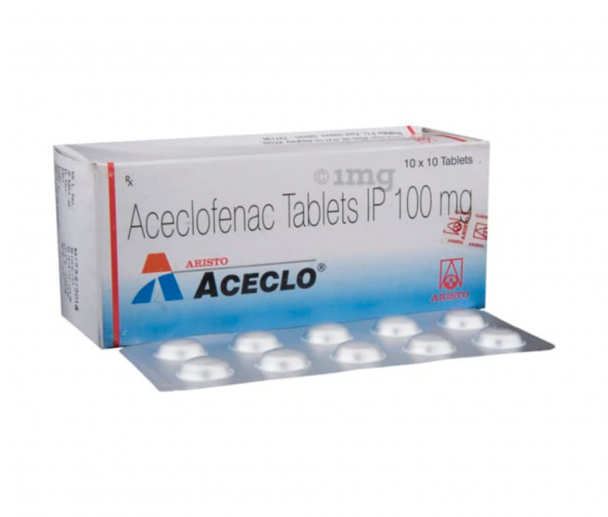 Aceclo 100mg Tablet