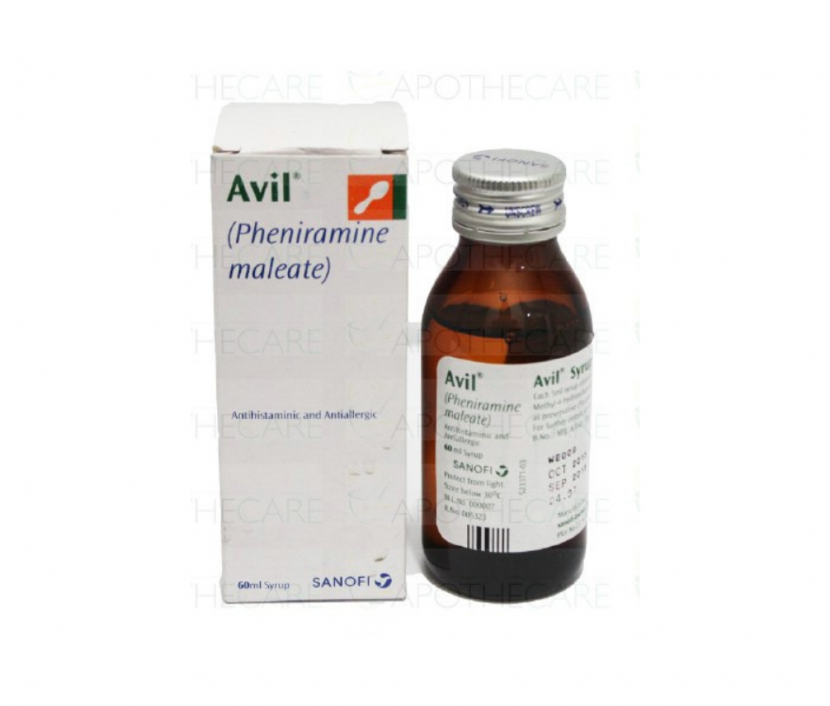 Avil 15mg/5ml Syrup 60ml