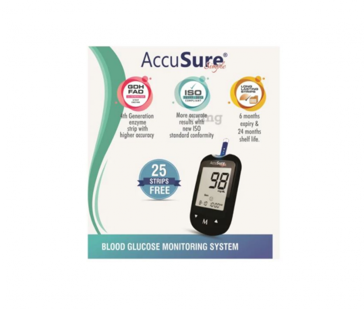 AccuSure Simple 4th Generation Blood Glucose Monitoring System