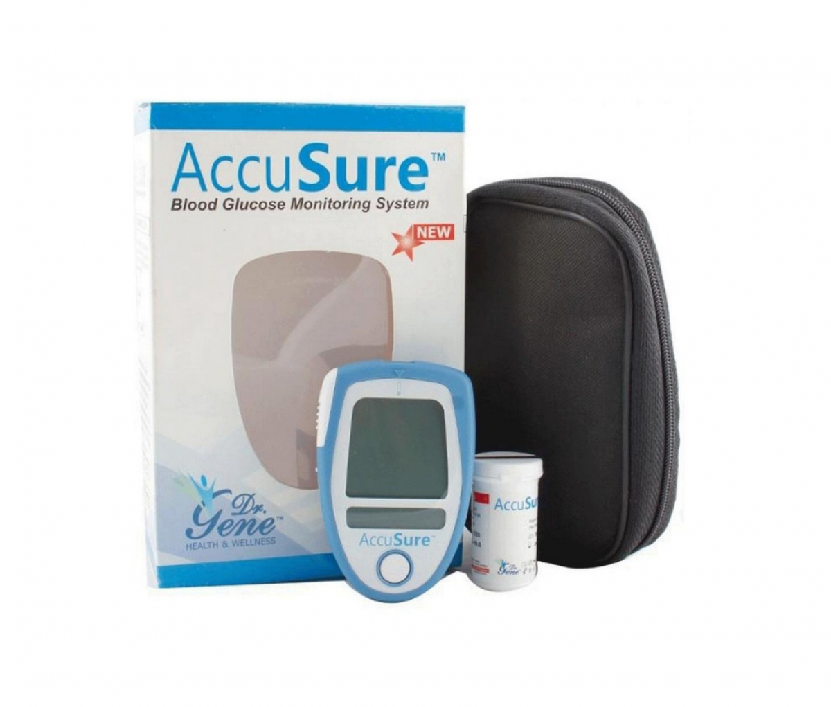Dr. Gene Accusure Blood Glucose Monitoring System with 10 Strips