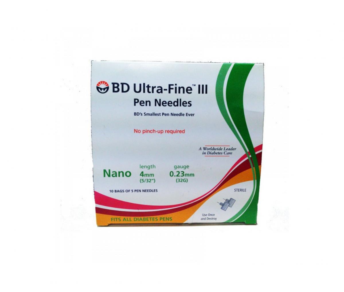 BD Ultra-Fine III Pen Needles 4MM 32G