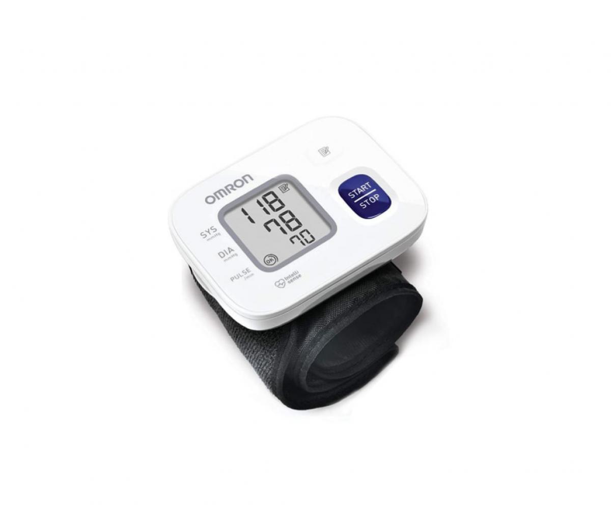 Omron HEM 6161 Fully Automatic Wrist Blood Pressure Monitor White