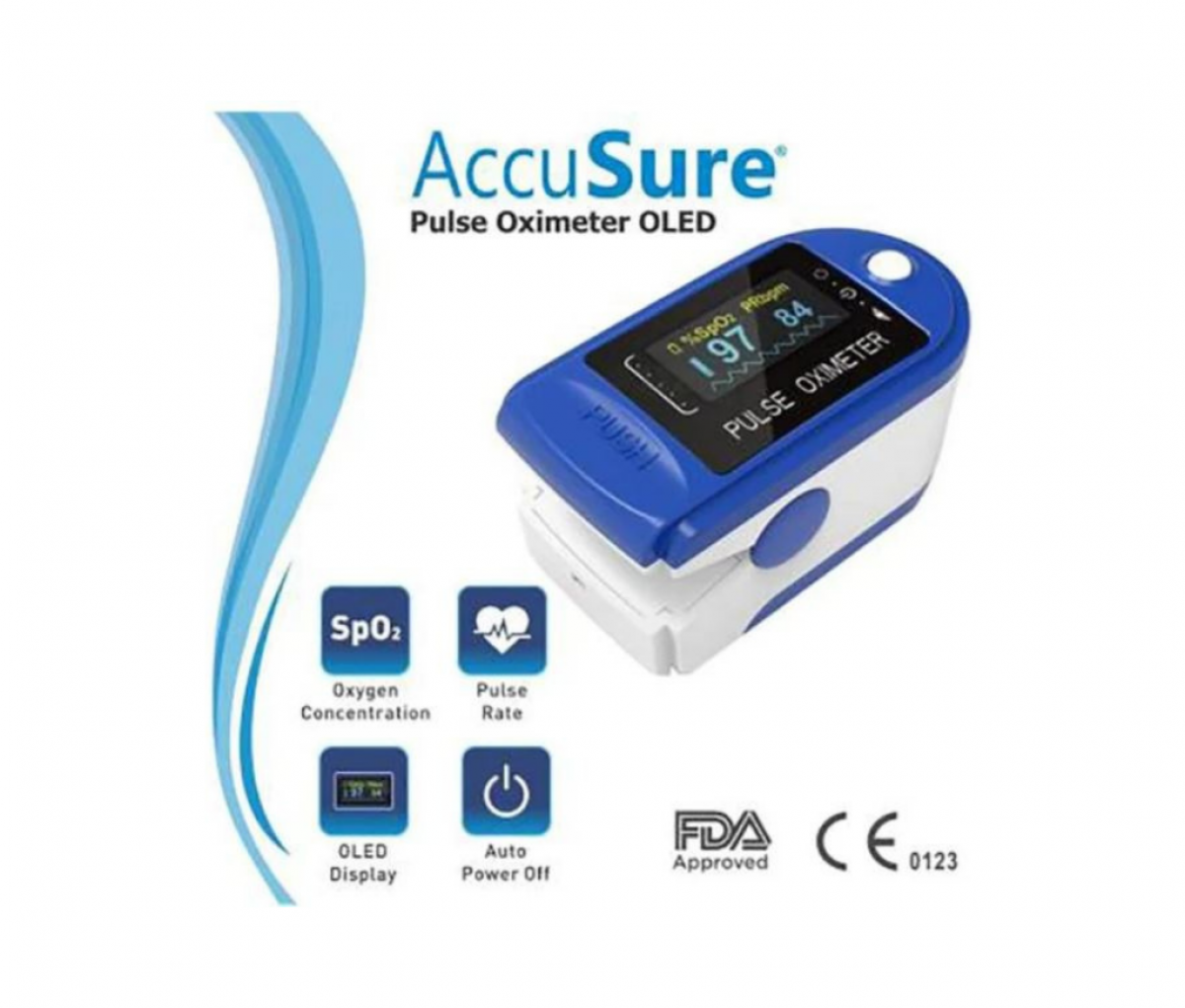 AccuSure CMS50D OLED Pulse Oximeter