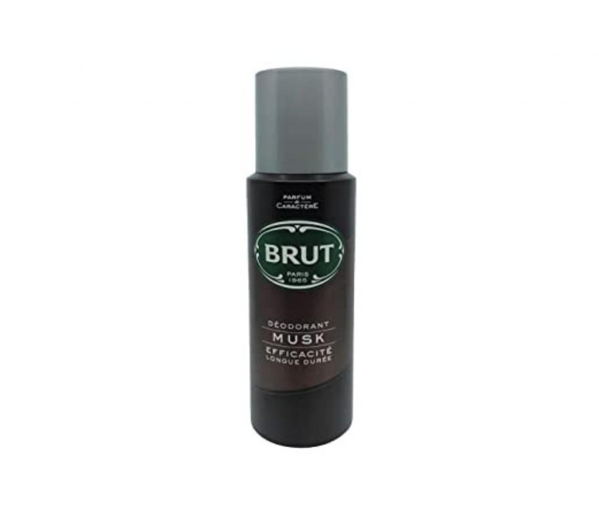 Brut Deo 200ml Musk Black