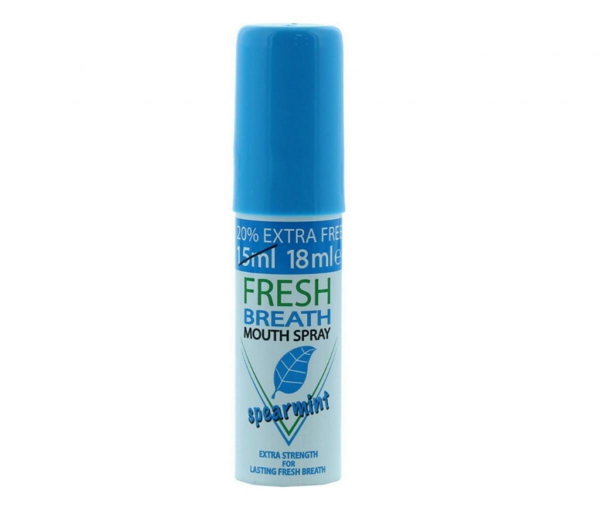 Fresh Breath Mouth Spray 18ml Spear Mint