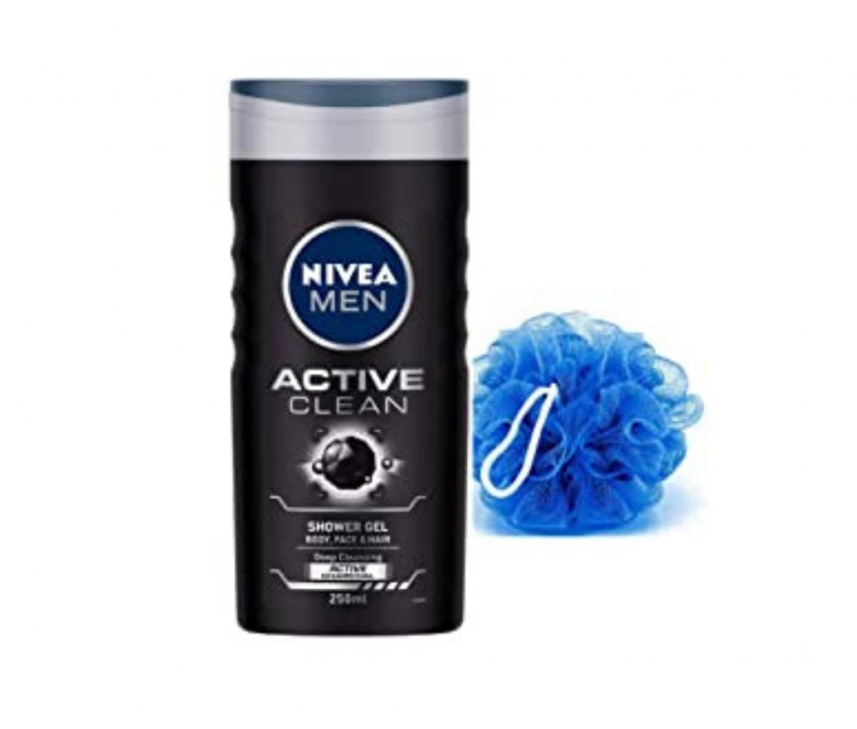Nivea 250ml Active Clean 3in1 Shower Gel