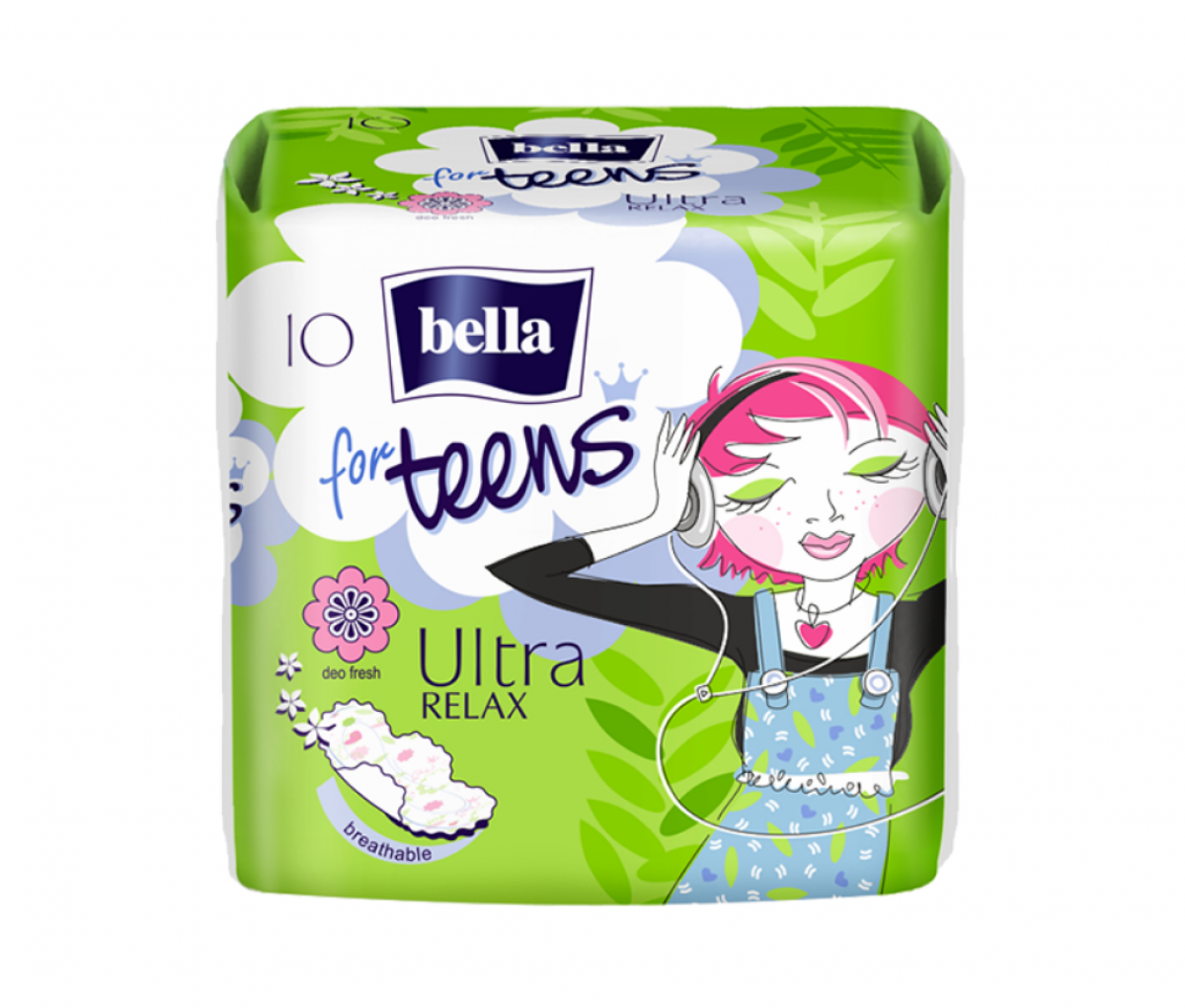 TZMO Bella for Teens Ultra Relax Sanitary Pads A10
