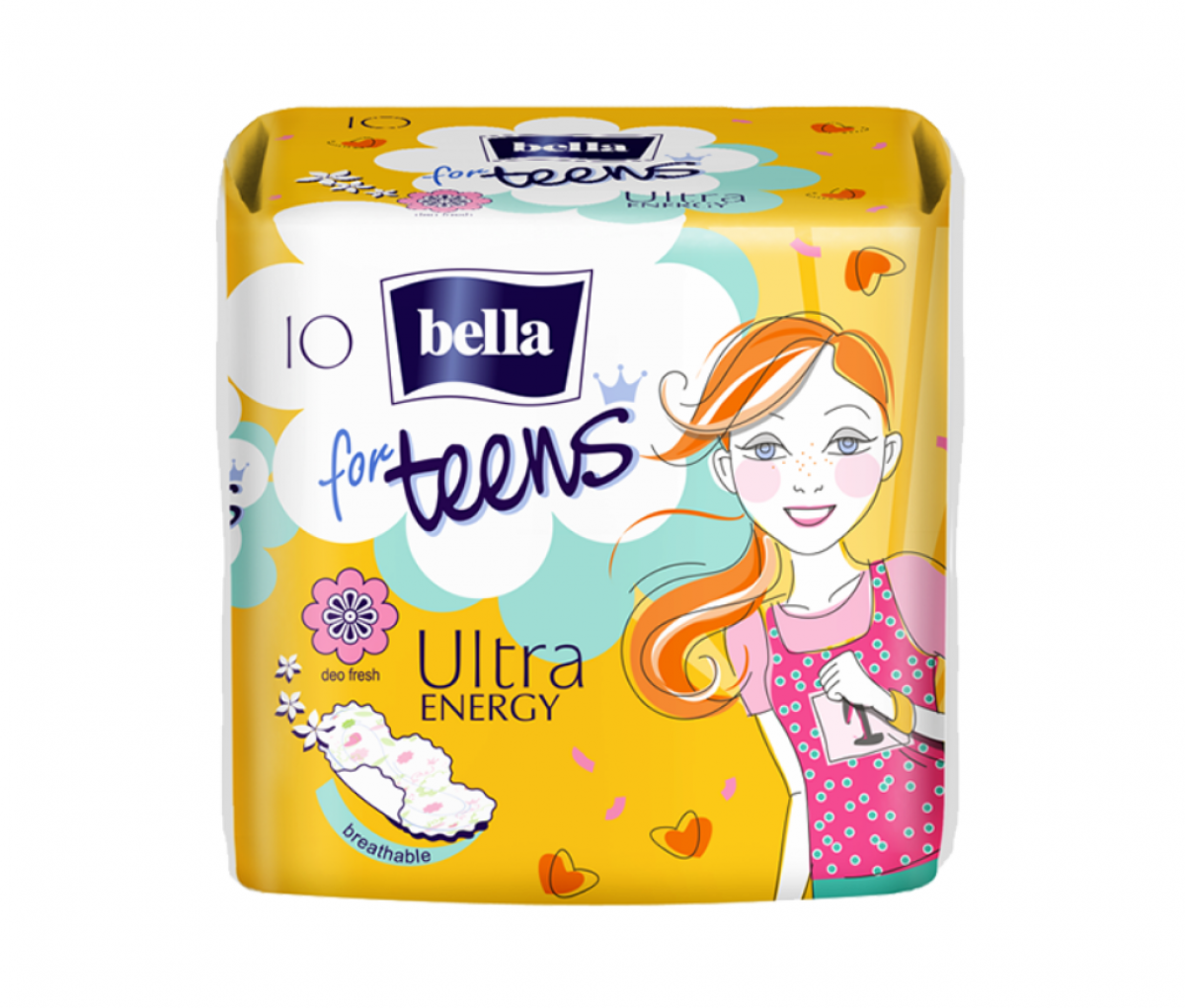 TZMO Bella for Teens Ultra Energy Sanitary Pads A10