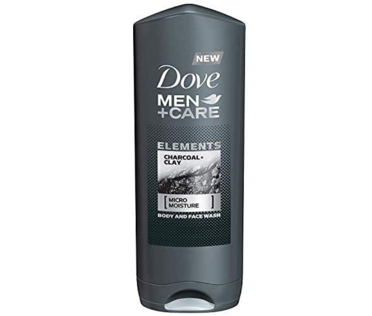 Dove 400ml 2in1 Charcoal+Clay Body & Face Wash